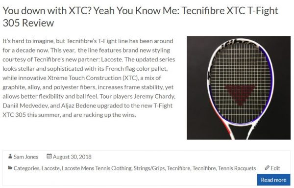Tecnifibre TFight XTC Blog Racquet Review