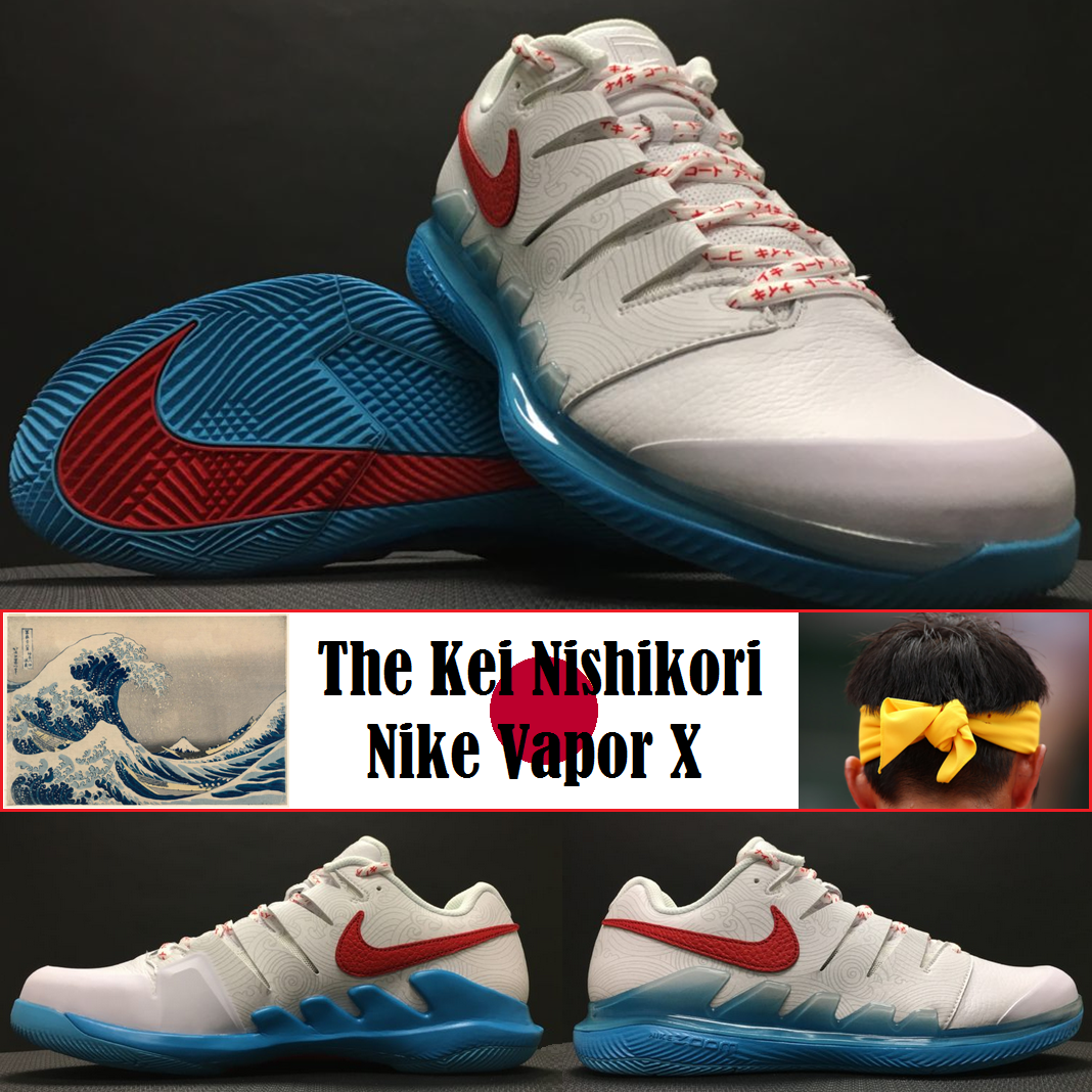 The Inspiration Behind Nike's Kei Nishikori Vapor X Tennis Shoe