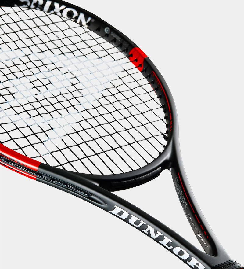 Close up of Dunlop Srixon CX 200 Tour 18x20 Tennis Racquet