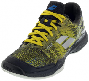 Babolat Men's Jet Mach II Clay Tennis Shoes in Dark Yellow and Black