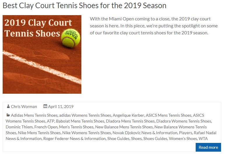 Best Clay Court Tennis Shoes for 2019 Season Thumbnail