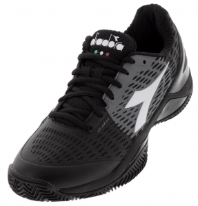 Diadora Men's Speed Blushield 3 Clay Tennis Shoes in Black and Steel Gray