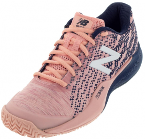 New Balance Women's 996v3 B Width Clay Tennis Shoes in White Peach and Pigment
