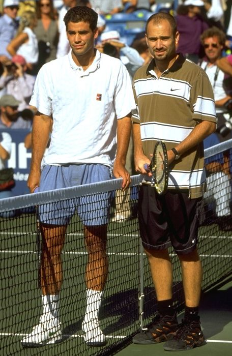 Pete Sampras and Andre Agassi 1995 US Open Final