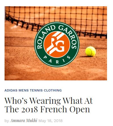 2018 French Open Apparel Blog Snippet