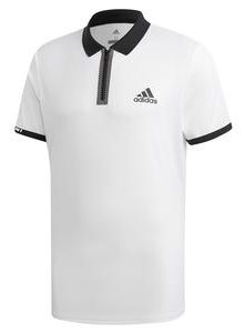 Adidas Mens Escouade Tennis Polo in White