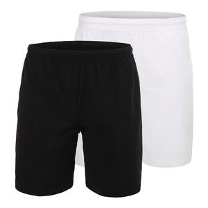 Lacoste Novak Djokovic Stretch Woven 7 Inch Tennis Short Black and White