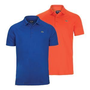 Lacoste Novak Djokovic Ultra Dry Raglan Tennis Polo Blue and Red