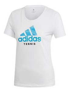 Adidas Womens Category Graphic Tennis Tee in White