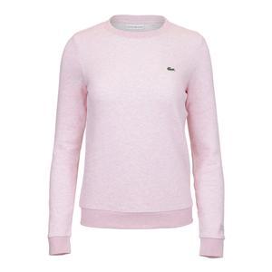 Lacoste Womens Fleece Long Sleeve Tennis Top Pink