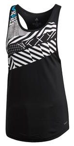 Adidas Womens Paris Tennis Tank in Black