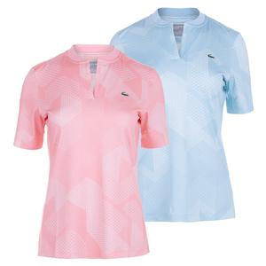 Lacoste Womens Technical Printed Tennis Polo