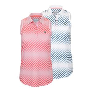 Lacoste Womens Ultra Dry Printed Sleeveless Tennis Polo