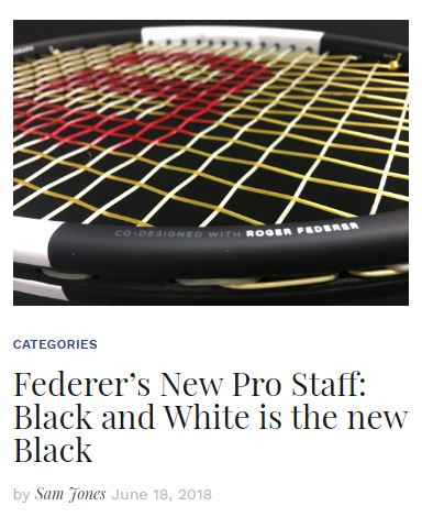 Federer's New Black and White Pro Staff Blog Thumbnail