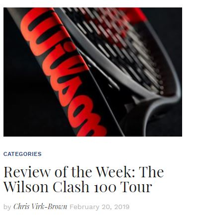 Wilson Clash 100 Tour Review Blog Thumbnail