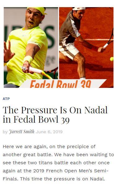 Fedal Bowl 39 Blog
