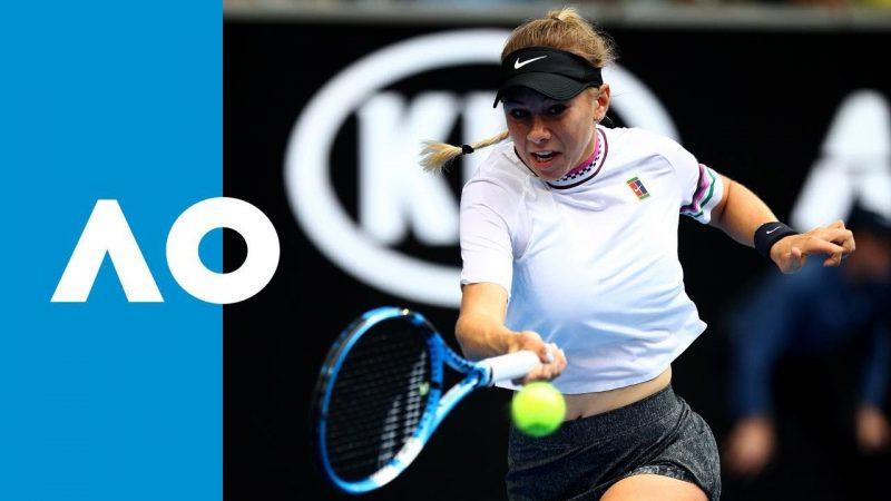 Anisimova at the Australian Open