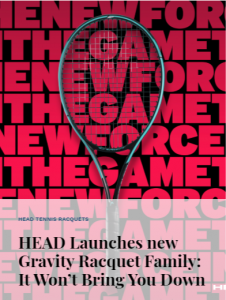 Head Launches new Gravity Racquet Family