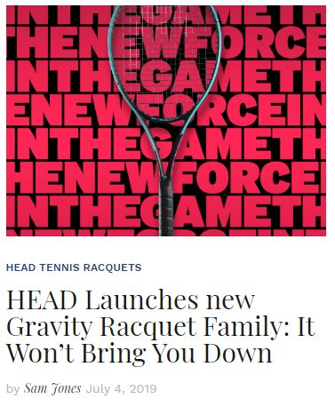 Head Gravity Tennis Racquets Blog