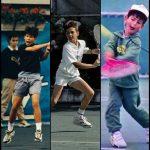 Nadal, Federer, and Djokovic as Kids