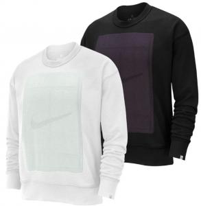 Nike Men's Court Fleece Reversible Long Sleeve Tennis Crew