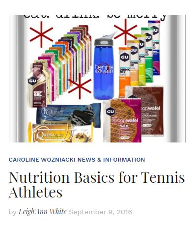 Nutrition Basics for Tennis Athletes Blog