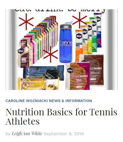 Nutrition Basics for Tennis Athletes Blog