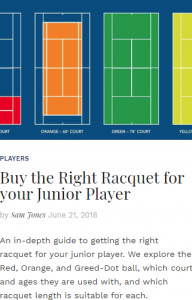 Buy The Right Racquet For Your Junior Player