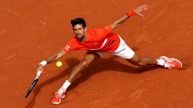 Djokovic at the 2019 French Open