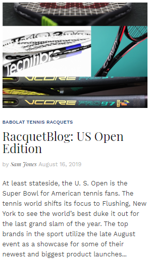 RacquetBlog - US Open Edition 2019