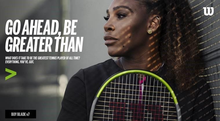 Serena Williams Wilson Blade Ad