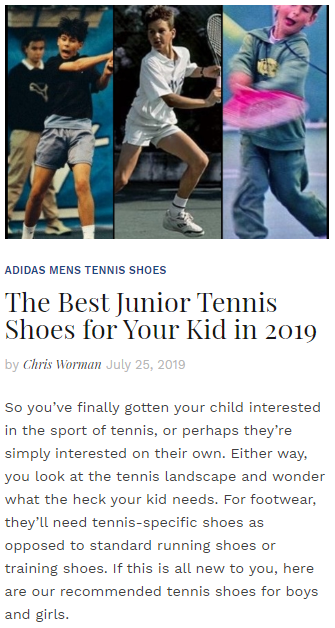 The Best Junior Tennis Shoes for Your Kid in 2019