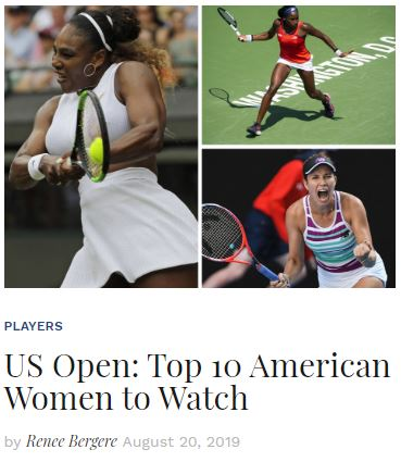 Top American Women to Watch at the 2019 US Open Blog Snippet