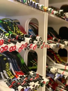 2019 US Open Tennis Player Racquets Stringing Room