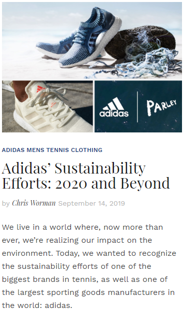 Adidas' Sustainability Efforts: 2020 and Beyond