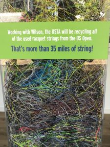 Recycling 2019 US Open Tennis String Wilson and USTA