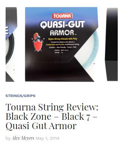 Tourna String Review Black 7, Black Zone and Quasi Gut