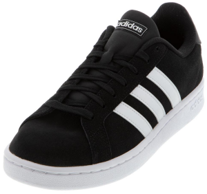 Adidas Men's Grand Court Shoes Core Black and White