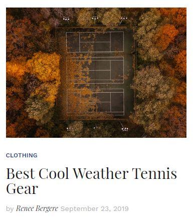 Best Cool Weather Tennis Gear Blog Thumbnail