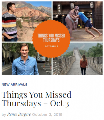 Things You Missed Thursday October 3 Blog Thumbnail