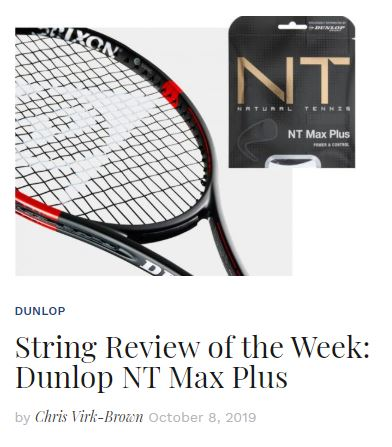 Dunlop NT Max Plus Tennis String Review Thumbnail