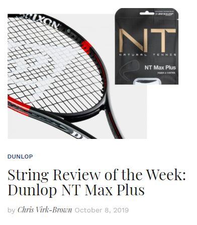 Dunlop NT Max Plus Tennis String Review Thumbnail