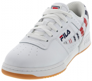 Fila Men's Original Fitness Stripe Shoes White and Navy