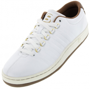 K-Swiss Men's Classic 88 II Bryan Brothers Lifestyle Shoes White and Dark Brown