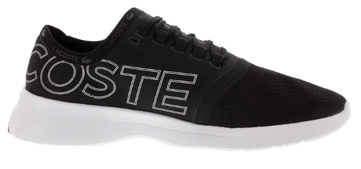Lacoste Men's LT Fit 119 Shoes Black and White Side