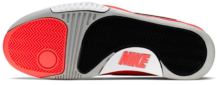 Nike Men's Vapor X TC Knit Tennis Shoes Black and Hot Lava Outsole
