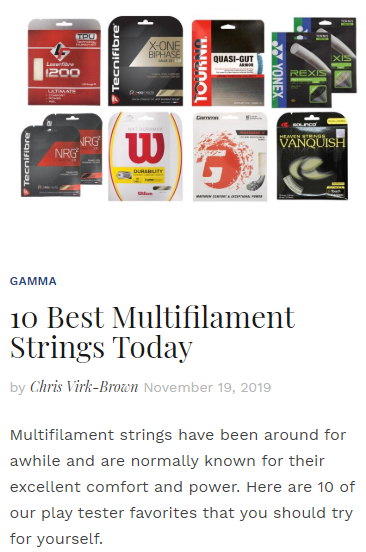 10 Best Multifilament Strings Today