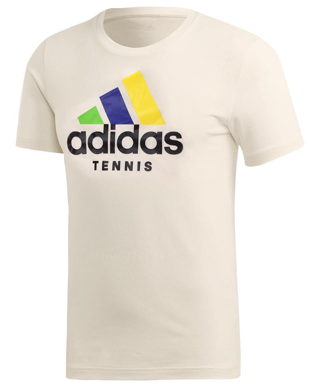 Adidas Men's Category Limited Edition Tennis Tee Cream White