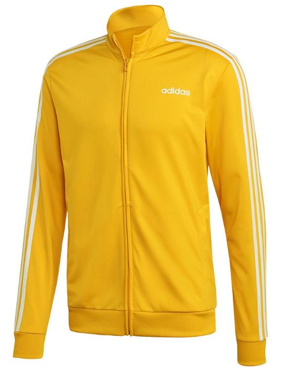 Adidas Men's Essentials 3-Stripes TT Tricot Jacket Active Gold