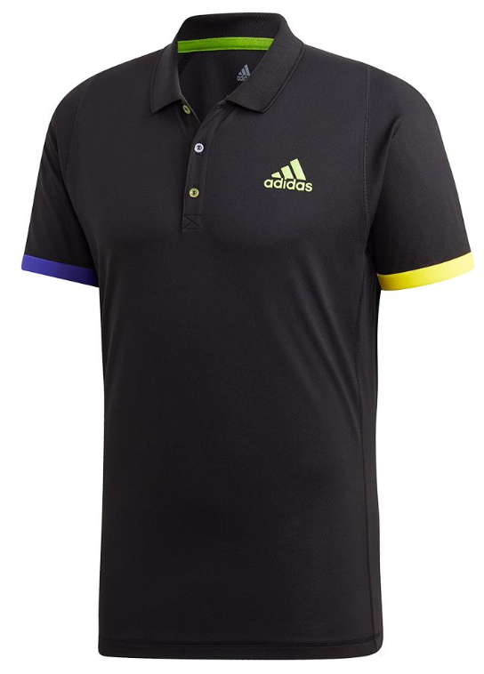 Adidas Men's Limited Edition Tennis Polo Black and Semi Solar Green